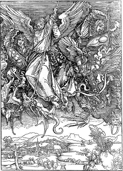 St.Michael-And-His-Angels-Fight-The-Dragon